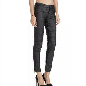 Free People Vegan Leather Ankle Zip Moto Pants